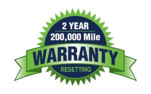 2 year, 200,000 mile warranty